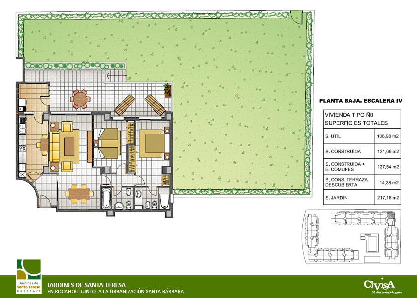 Civisa residencial jardines de santa teresa for Planos de jardines
